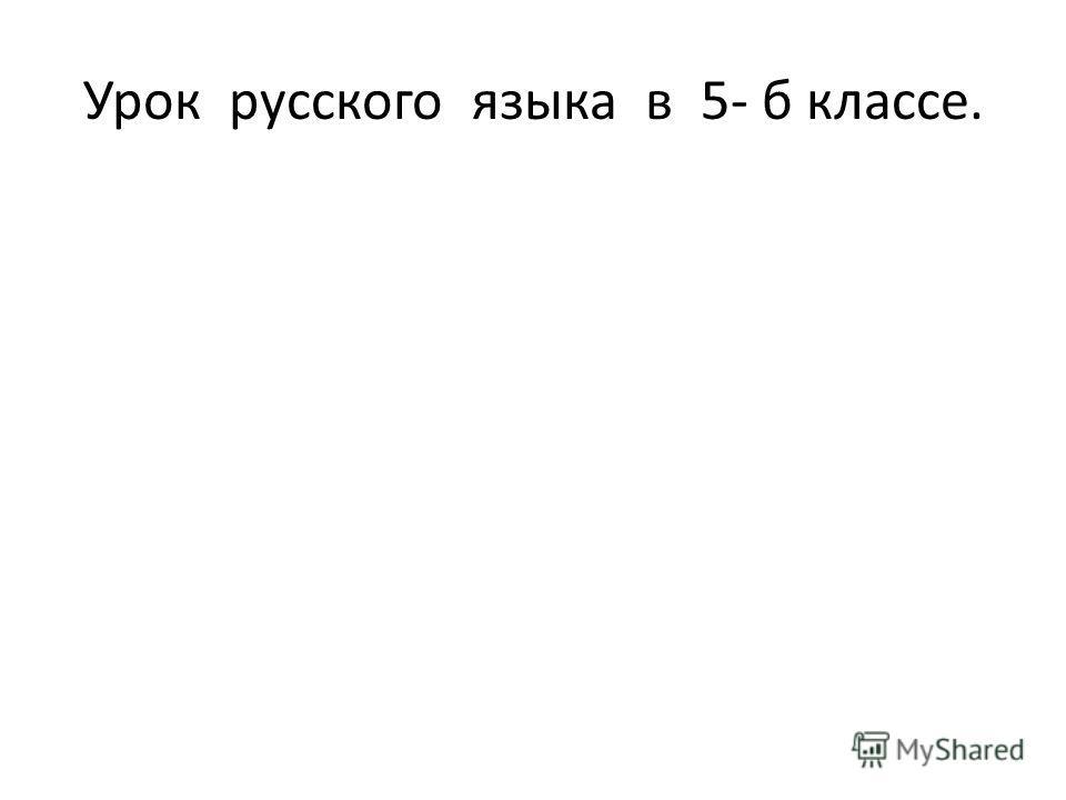Урок русского языка в 5- б классе.