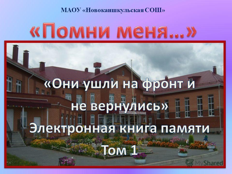 МАОУ «Новокаишкульская СОШ»