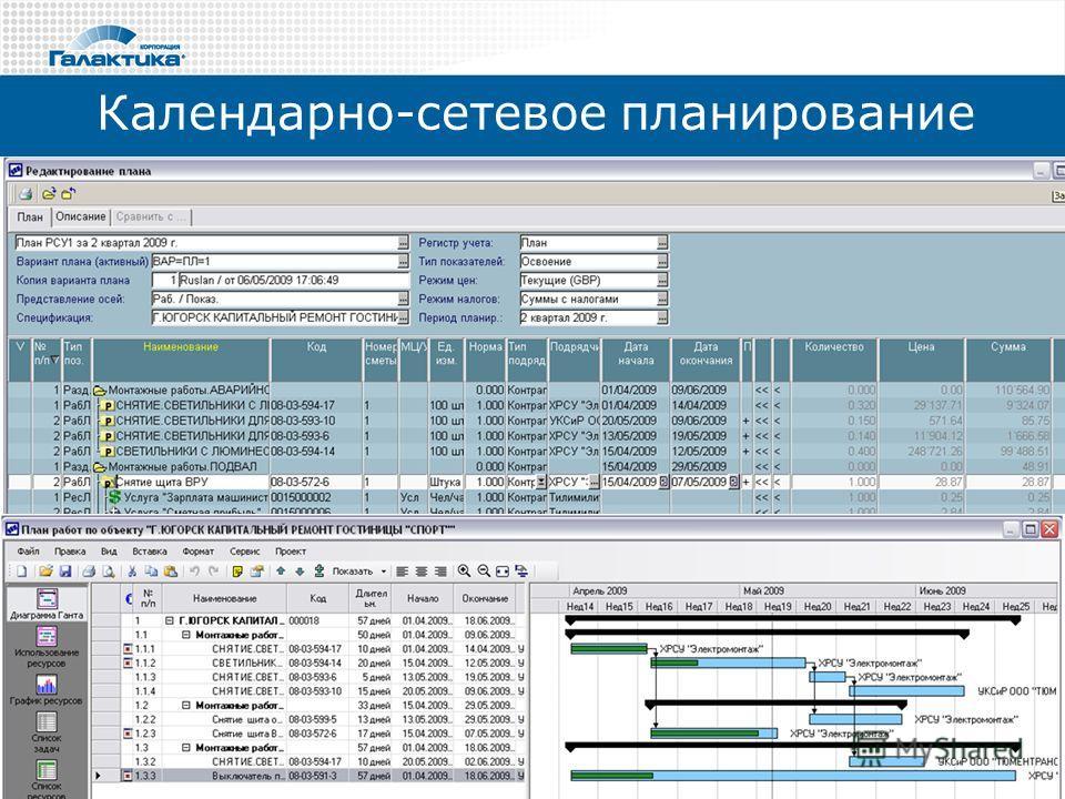 Календарно-сетевое планирование