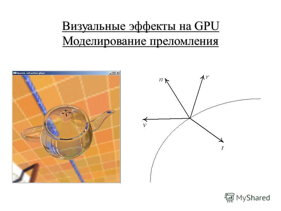 Визуальные эффекты на GPU Моделирование преломления