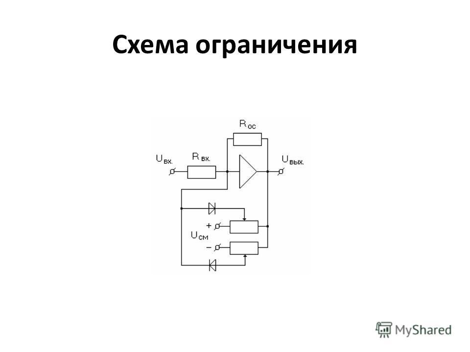 Схема ограничения
