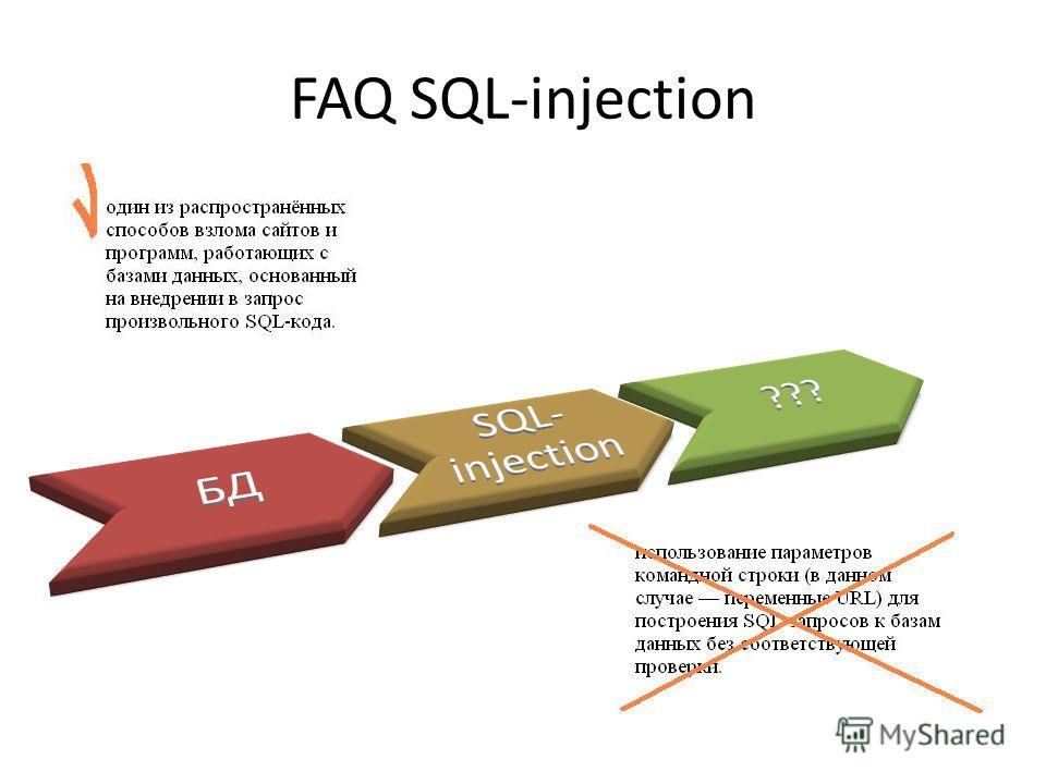 FAQ SQL-injection