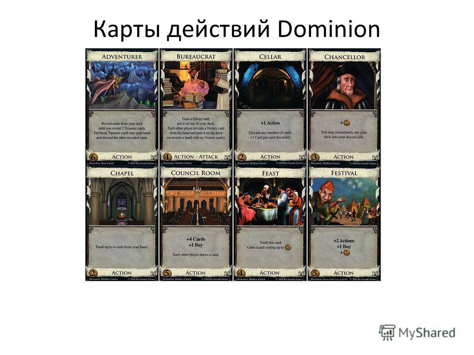 Карты действий Dominion
