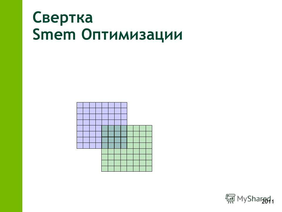 2011 Свертка Smem Оптимизации