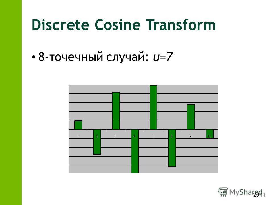 2011 Discrete Cosine Transform 8-точечный случай: u=7