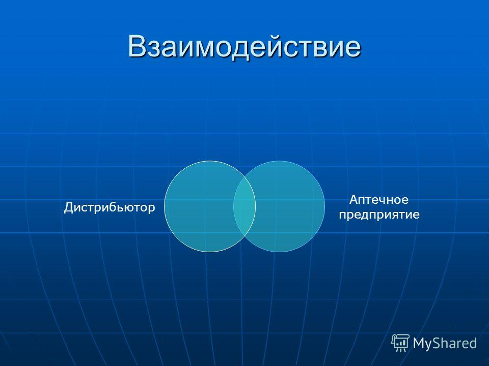 Взаимодействие Дистрибьютор Аптечное предприятие