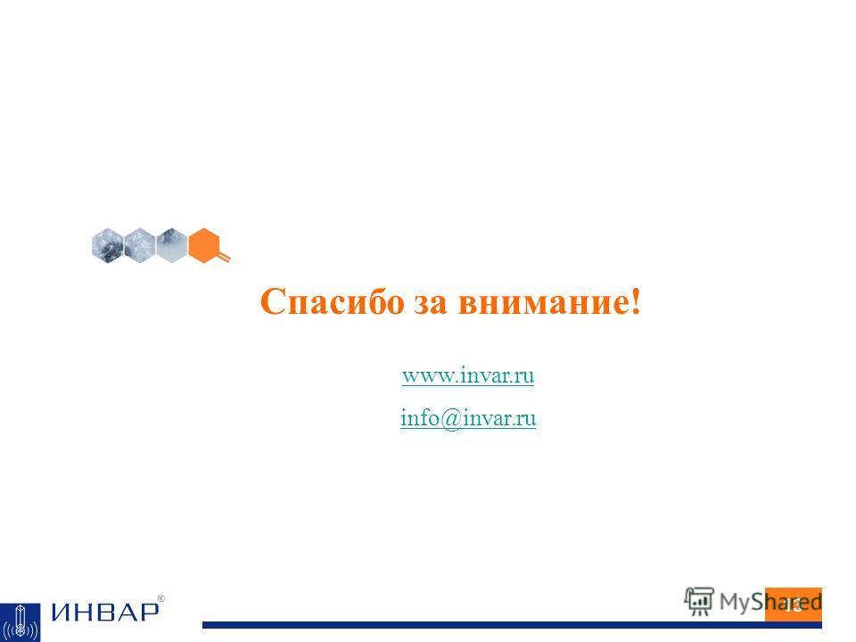 Спасибо за внимание! 13 www.invar.ru info@invar.ru