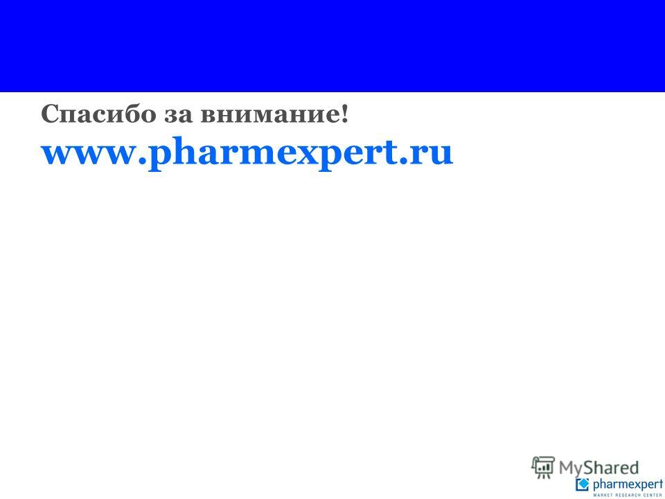 Спасибо за внимание! www.pharmexpert.ru