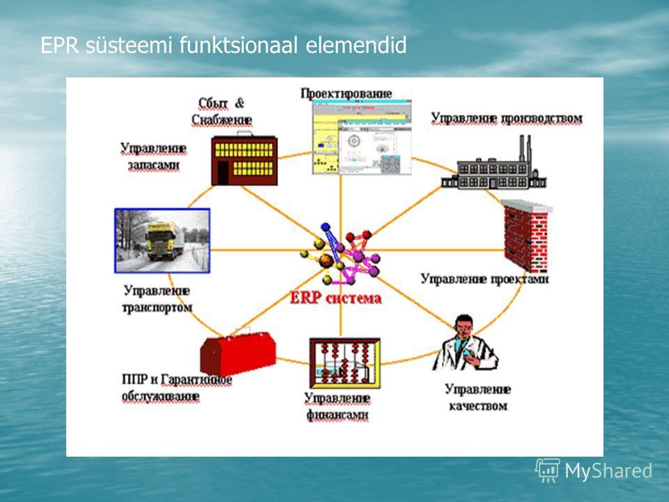 EPR süsteemi funktsionaal elemendid