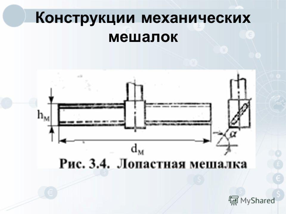 Конструкции механических мешалок