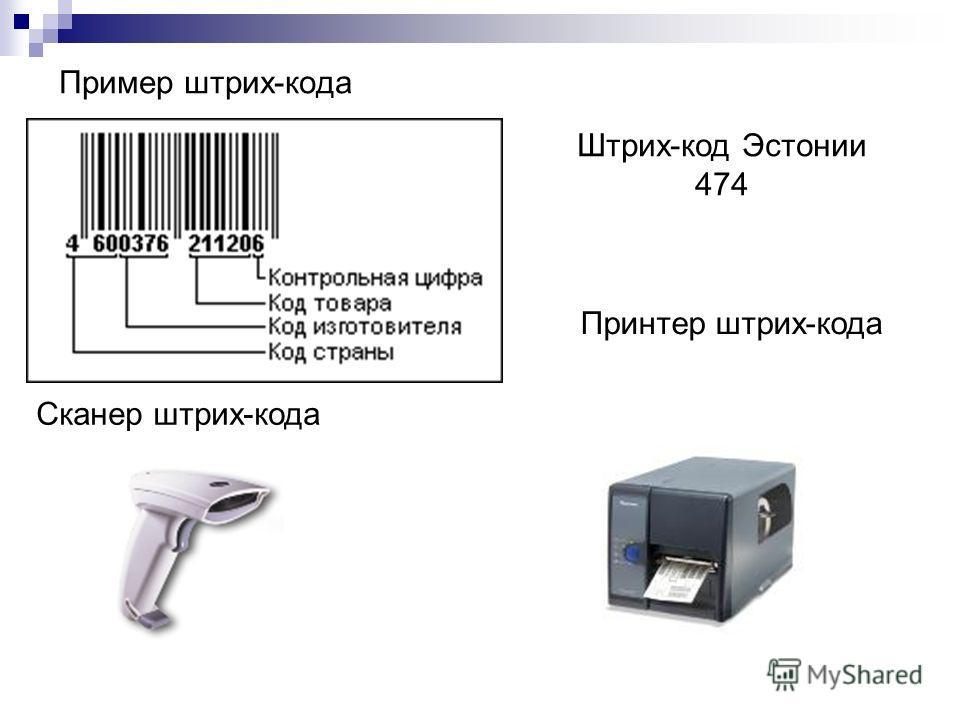 Пример штрих-кода Cкaнep штрих-кода Принтер штрих-кода Штрих-код Эстонии 474