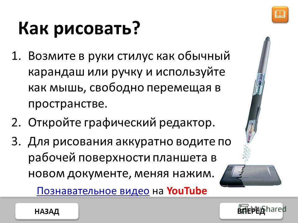 НАЗАД ВПЕРЁД Подключения планшета Обычно все современные планшеты подключаются через USB порт компьютера по технологии Plug and Play. http://www.viaarena.com/ViaArenaAdmin/images/articles/1/VIA%20C7M/USB%20image4.jpg