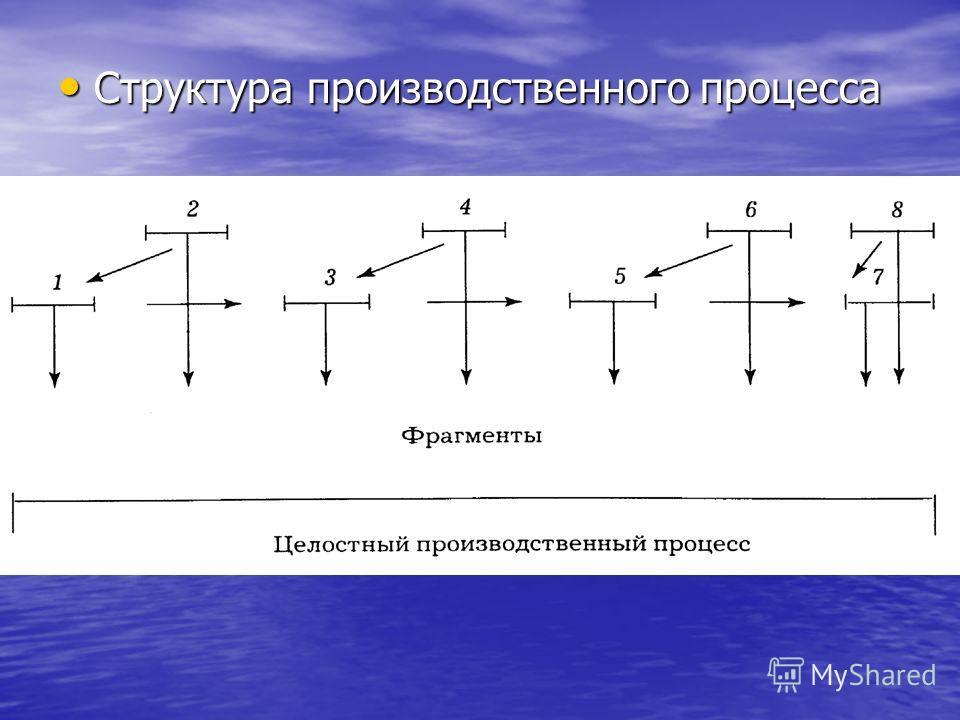 Структура производственного процесса Структура производственного процесса
