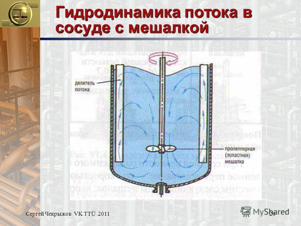 Сергей Чекрыжов VK TTÜ 201120 Гидродинамика потока в сосуде с мешалкой