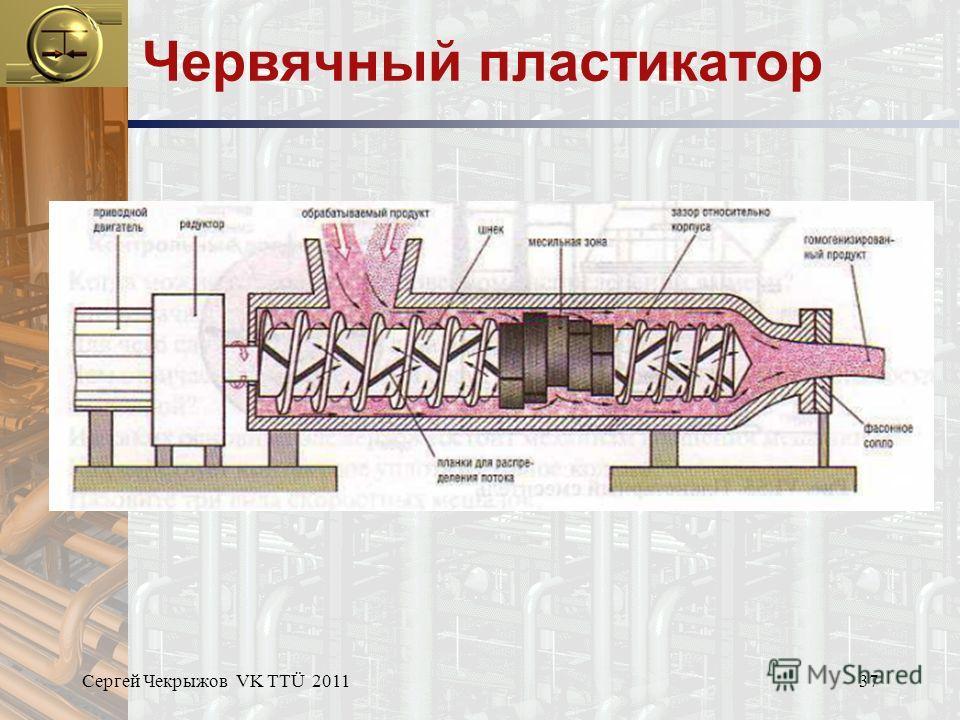 Сергей Чекрыжов VK TTÜ 201137 Червячный пластикатор