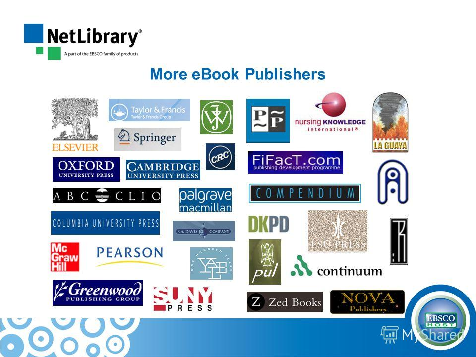 More eBook Publishers