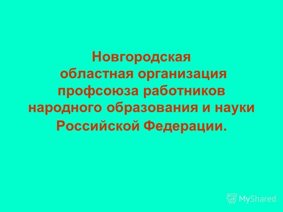 Новгородская областная организация профсоюза работников народного образования и науки Российской Федерации.