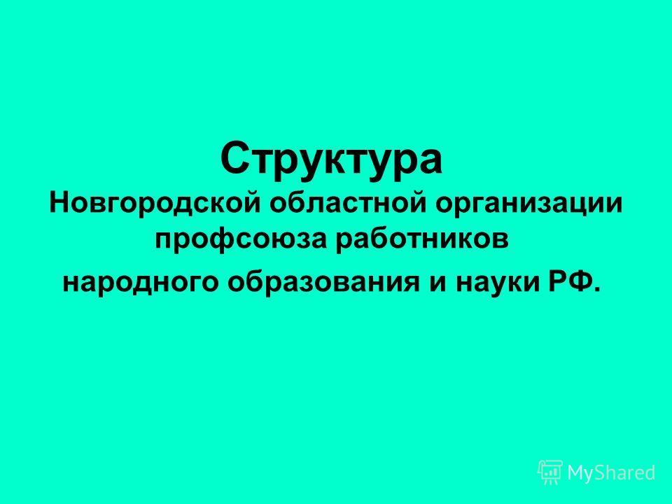 Структура Новгородской областной организации профсоюза работников народного образования и науки РФ.