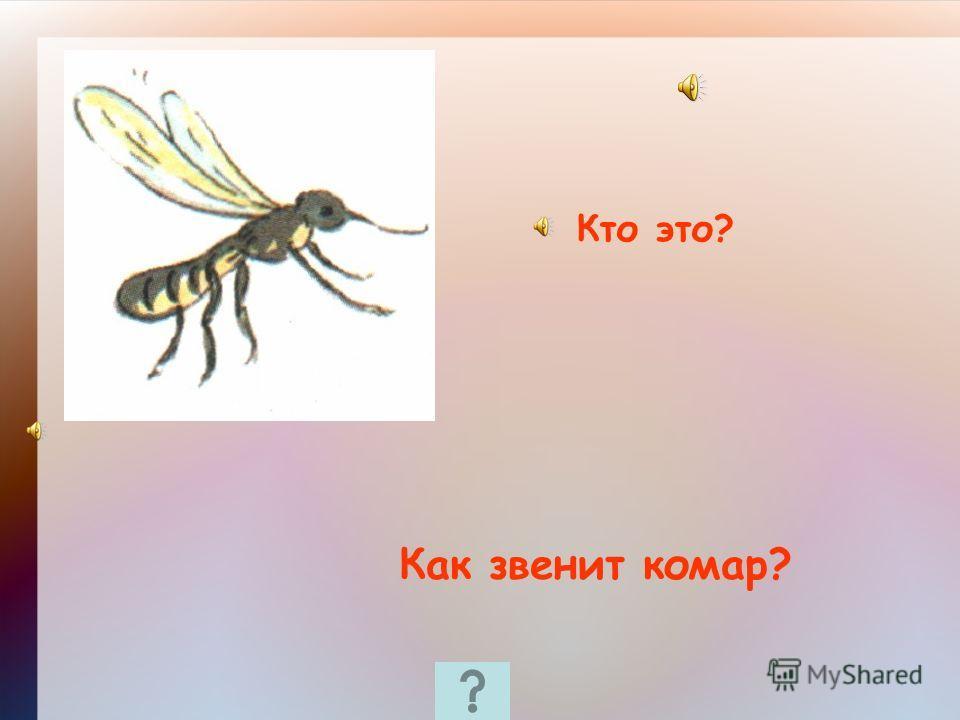 Кто это? Как звенит комар?