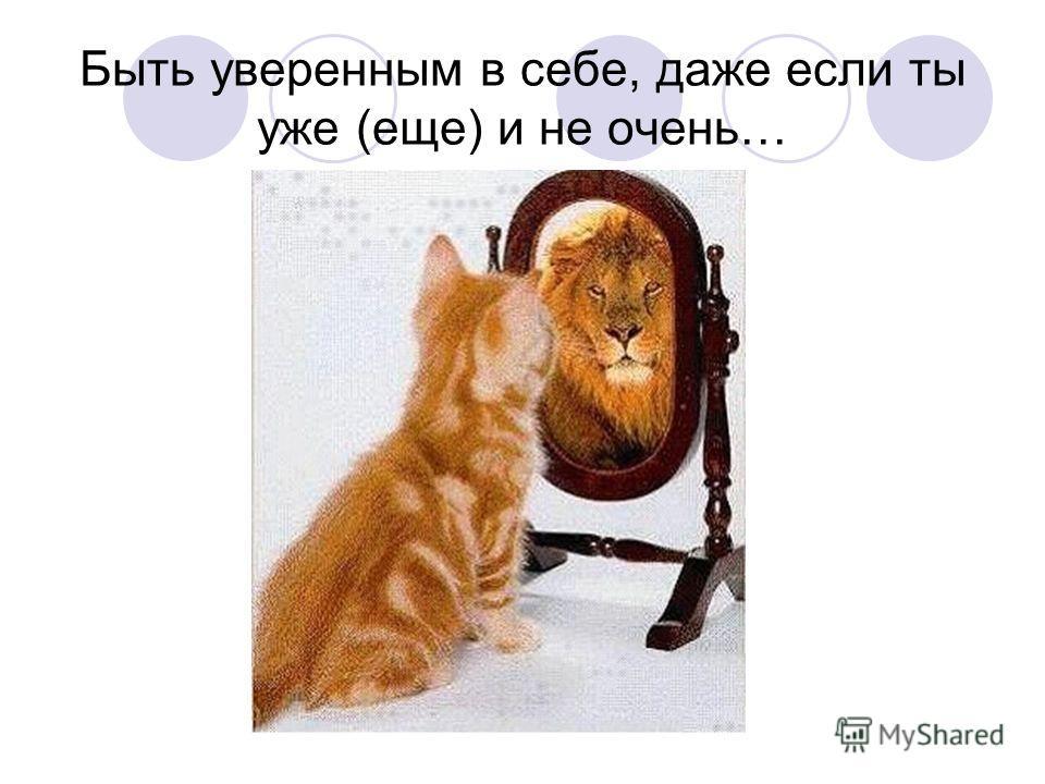 Быть уверенным в себе, даже если ты уже (еще) и не очень…