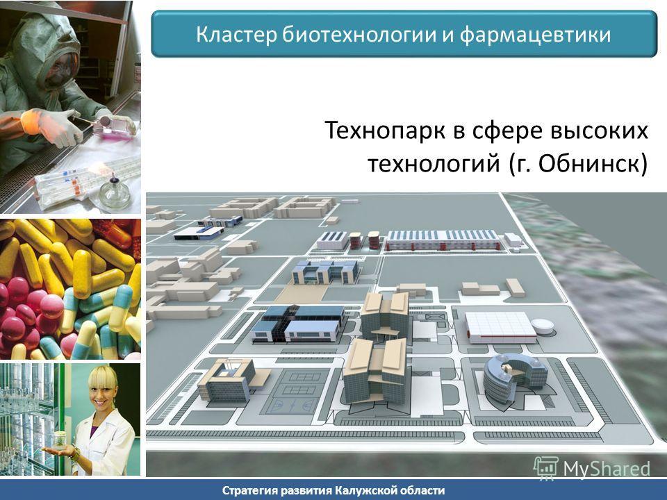 Стратегия развития Калужской области Кластер биотехнологии и фармацевтики Технопарк в сфере высоких технологий (г. Обнинск)