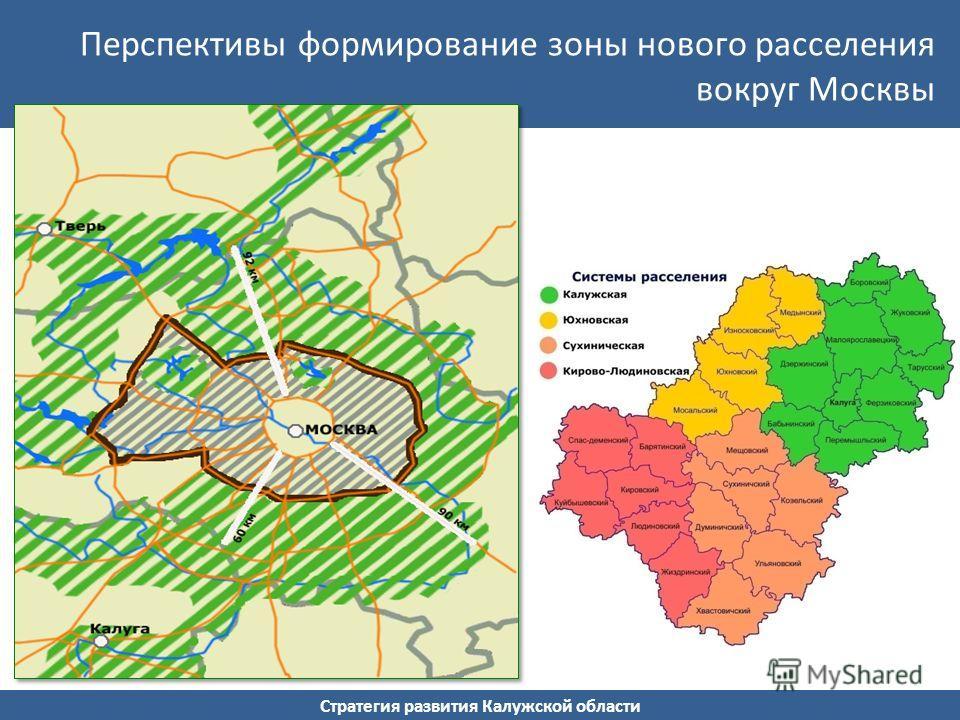 Стратегия развития Калужской области Перспективы формирование зоны нового расселения вокруг Москвы