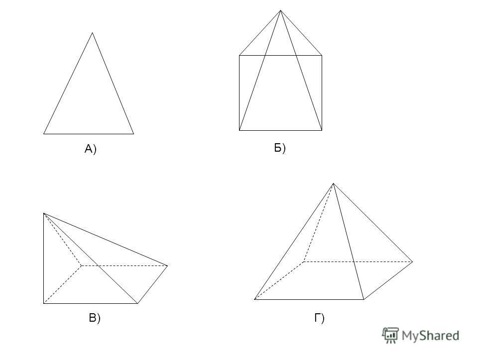 А) Б) В)Г)