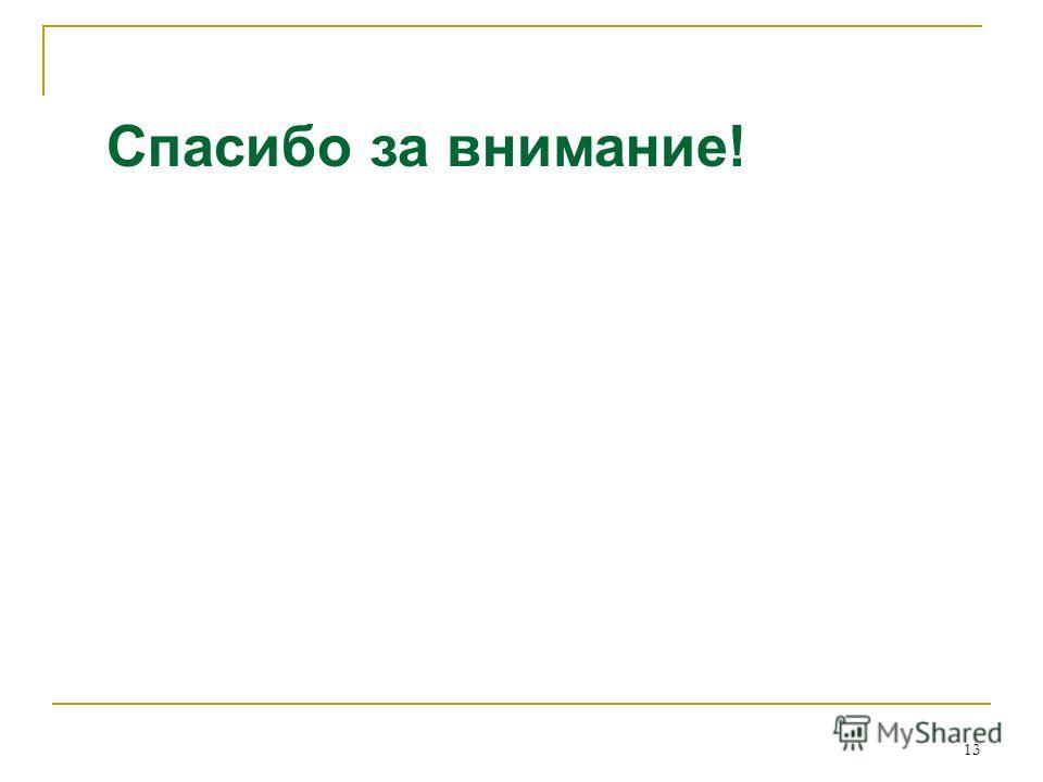 13 Спасибо за внимание!
