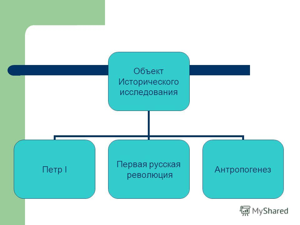 Объект Исторического исследования Петр I Первая русская революция Антропогенез