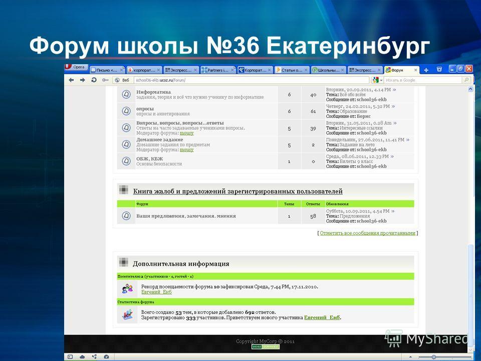 Форум школы 36 Екатеринбург