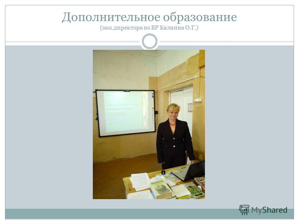 Дополнительное образование (зам.директора по ВР Калнина О.Г.)