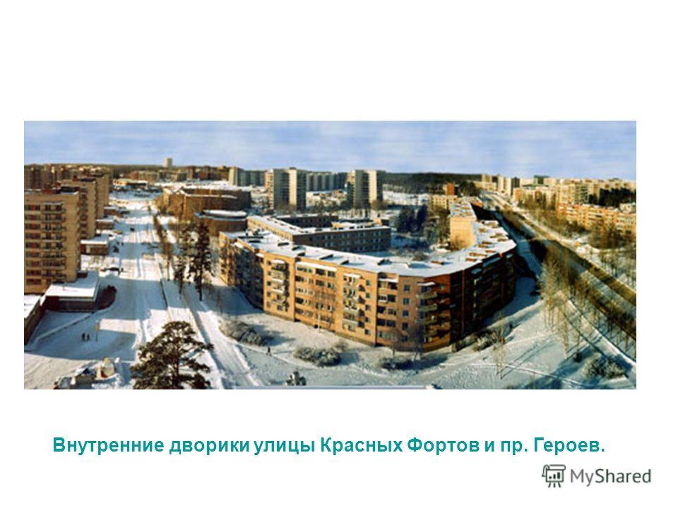 Внутренние дворики улицы Красных Фортов и пр. Героев.