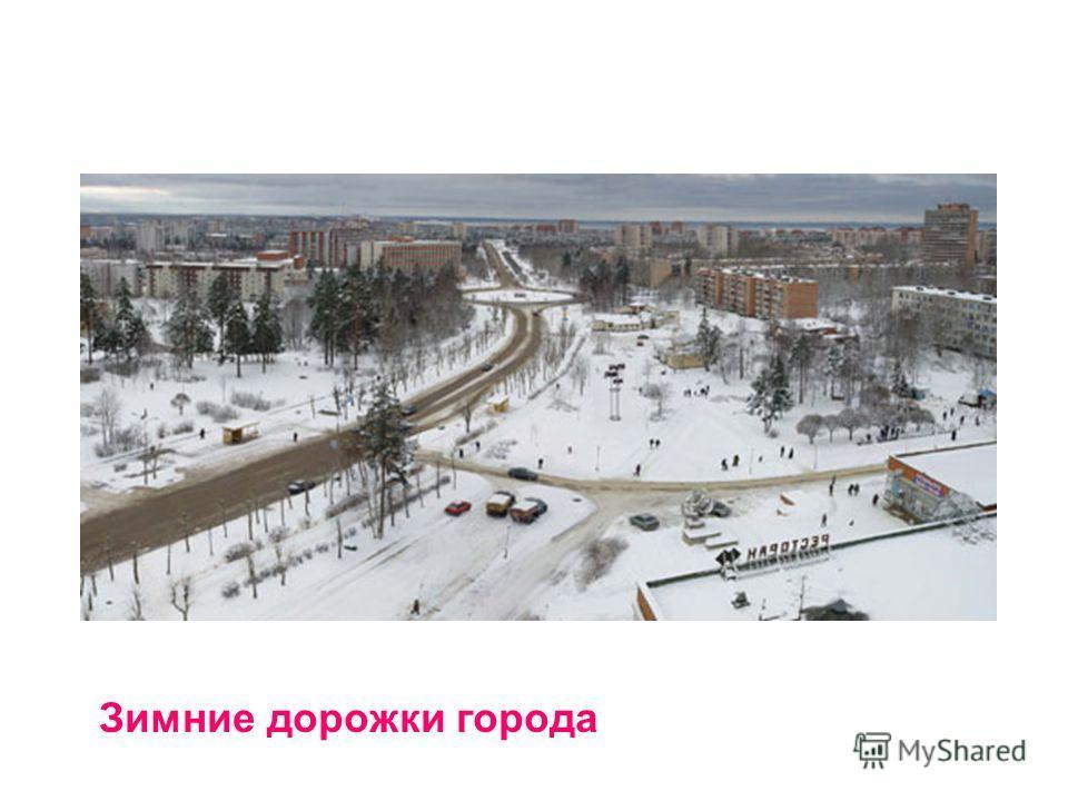 Зимние дорожки города
