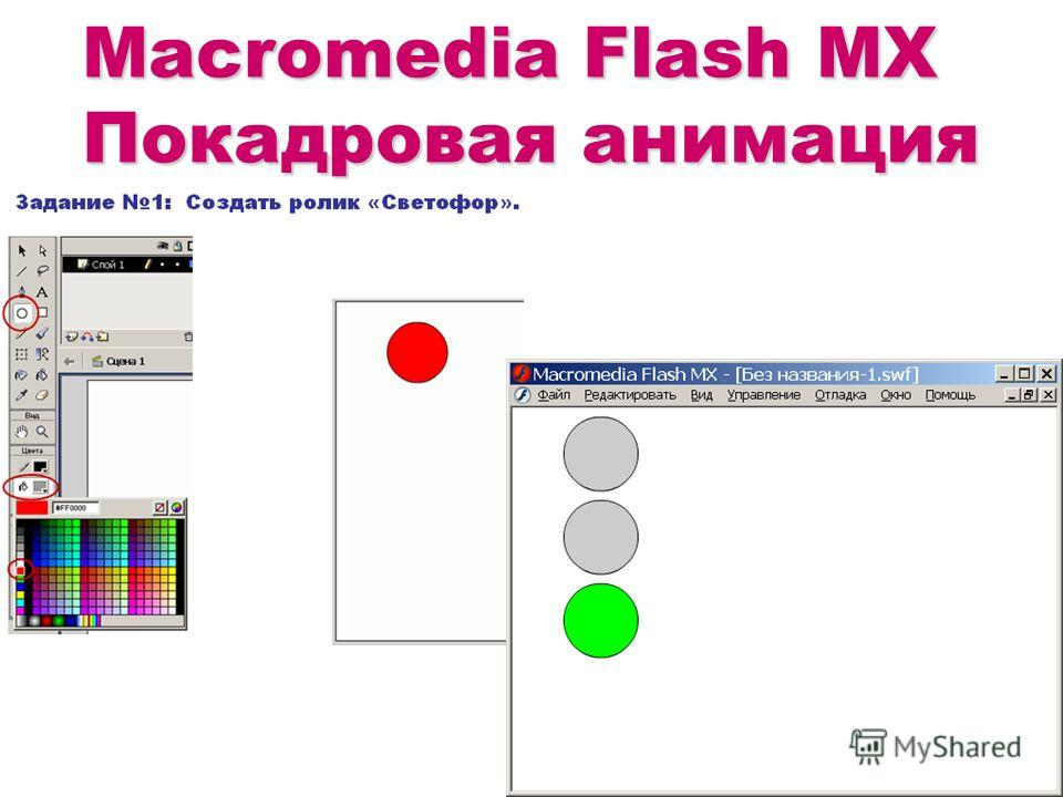 Macromedia Flash MX Покадровая анимация