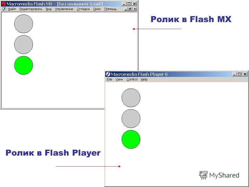 Ролик в Flash MX Ролик в Flash Player