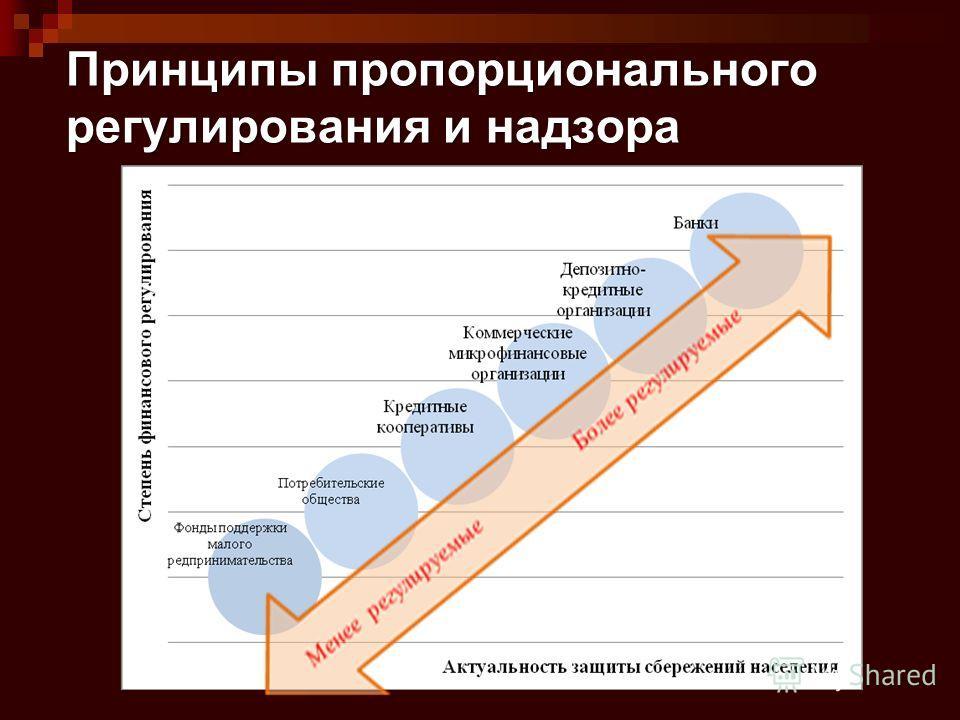 Принципы пропорционального регулирования и надзора