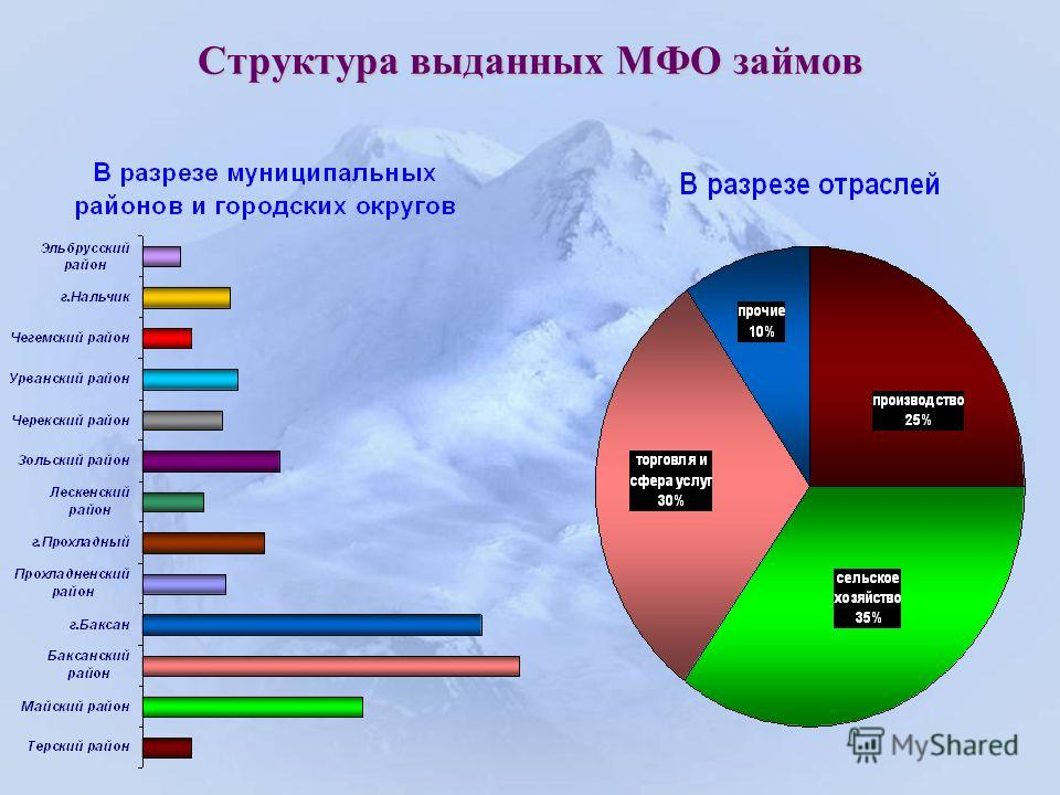 Структура выданных МФО займов