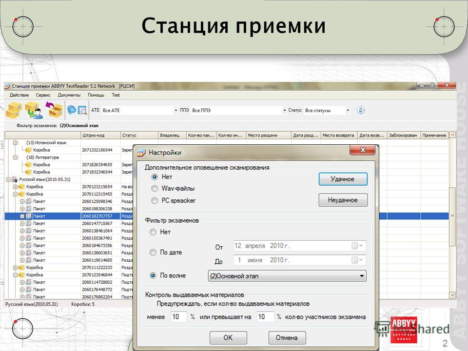 Станция приемки 2ABBYY TestReader 5.1 Что нового