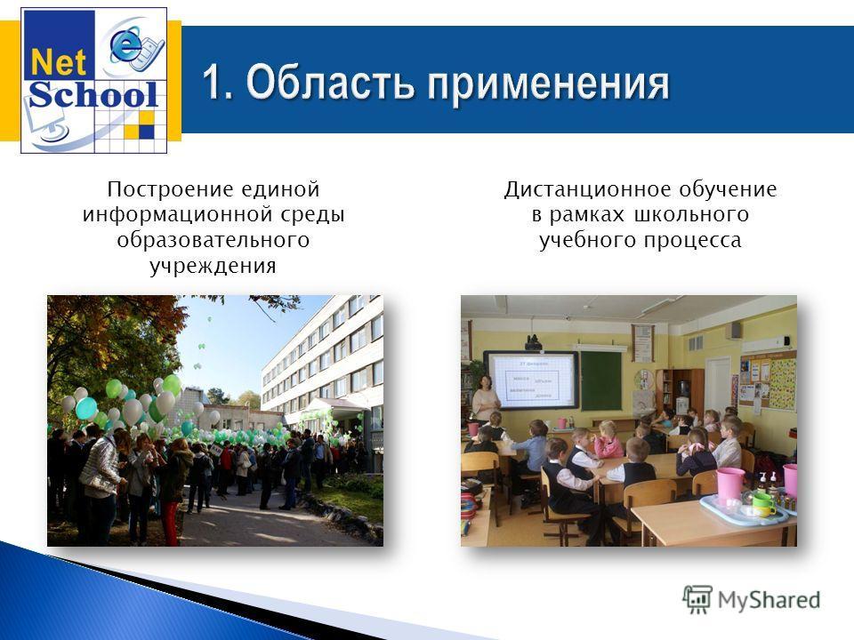 Построение единой информационной среды образовательного учреждения Дистанционное обучение в рамках школьного учебного процесса