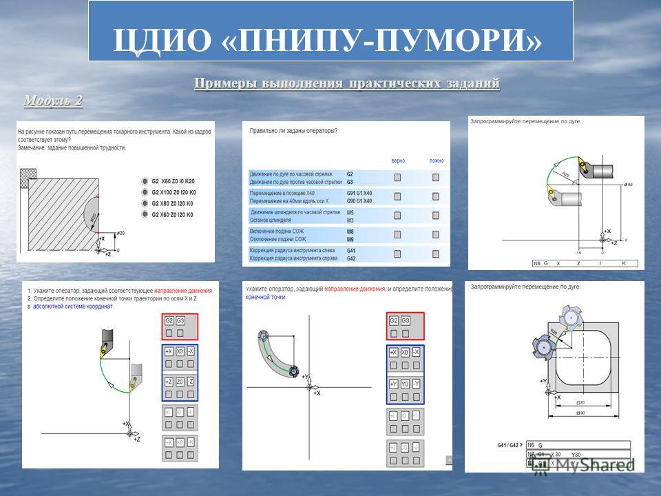 ЦДИО «ПНИПУ-ПУМОРИ» Примеры выполнения практических заданий Примеры выполнения практических заданий Модуль 2