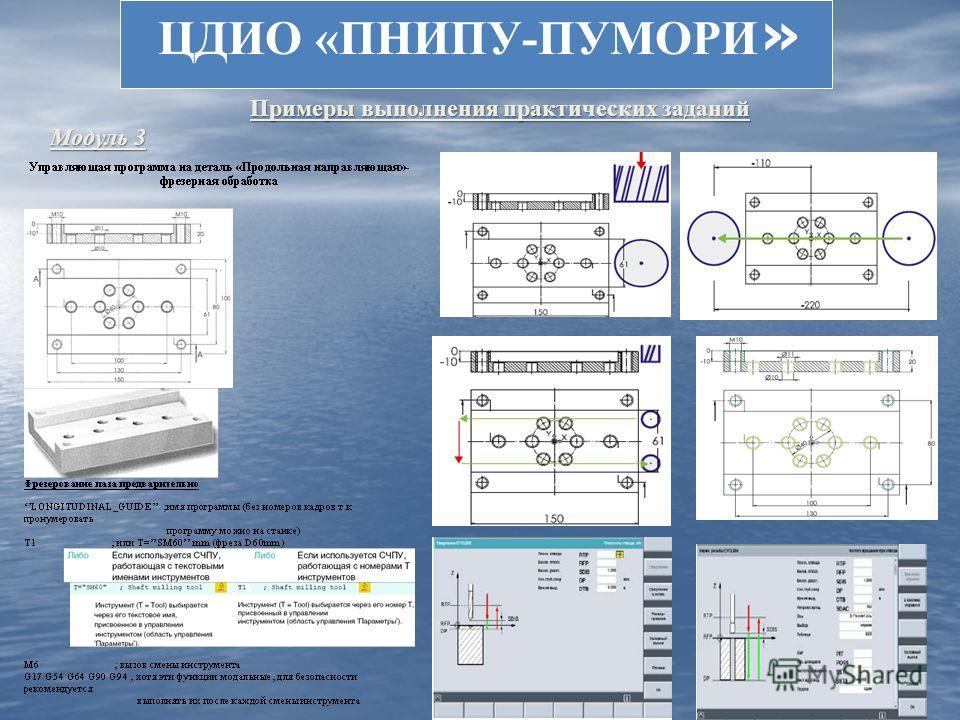 ЦДИО «ПНИПУ-ПУМОРИ » Примеры выполнения практических заданий Модуль 3