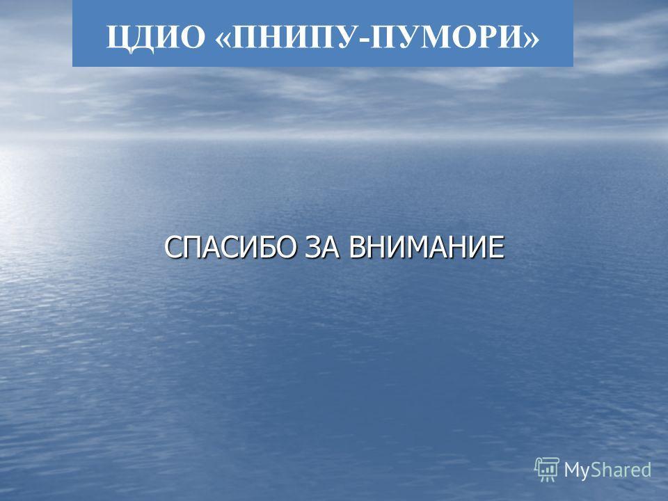 ЦДИО «ПНИПУ-ПУМОРИ» СПАСИБО ЗА ВНИМАНИЕ