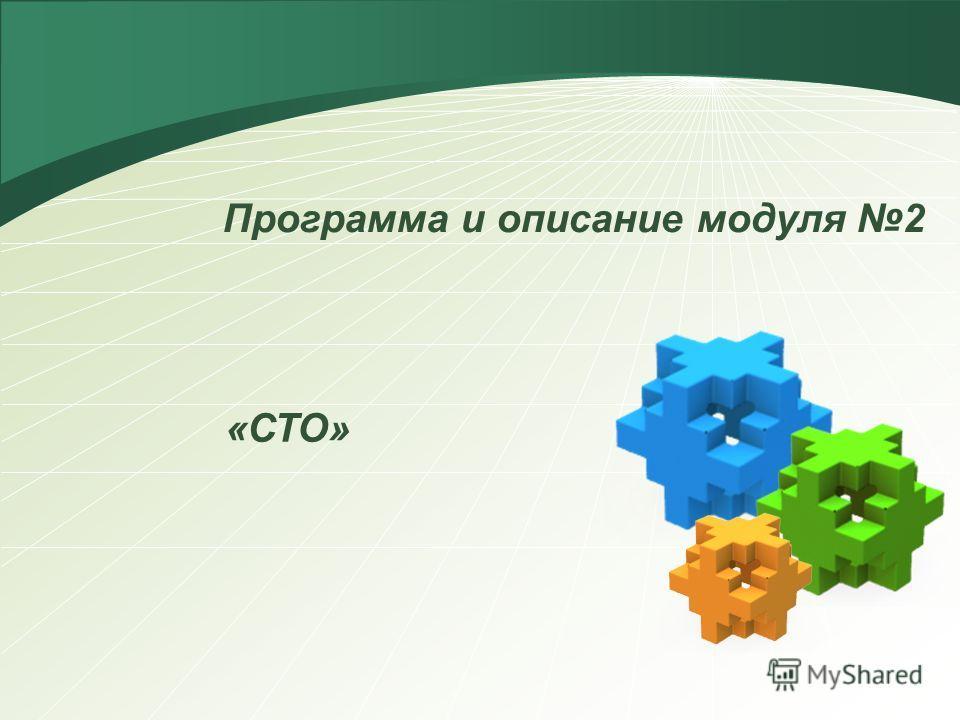 Программа и описание модуля 2 «СТО»