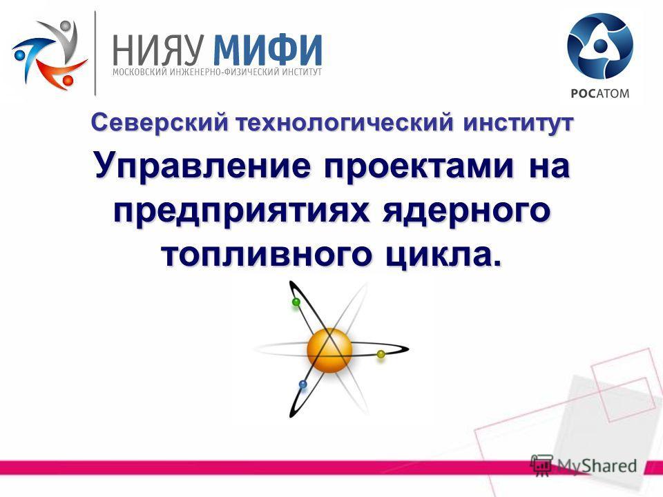 Управление проектами на предприятиях ядерного топливного цикла. Северский технологический институт