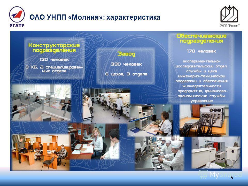 ОАО УНПП «Молния»: характеристика 5