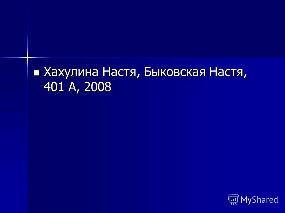 Хахулина Настя, Быковская Настя, 401 А, 2008 Хахулина Настя, Быковская Настя, 401 А, 2008