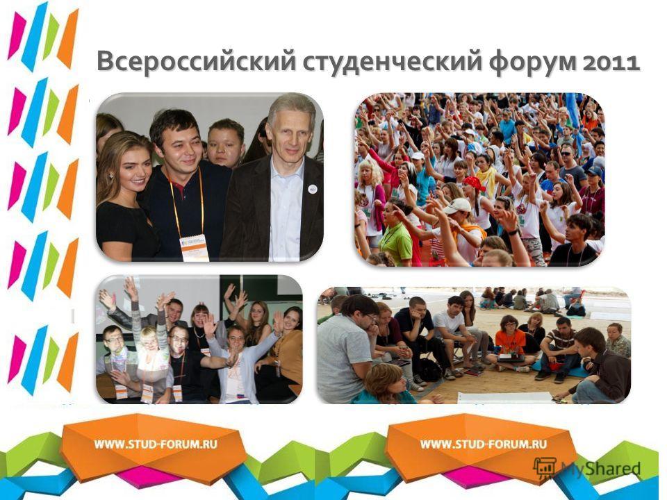 Всероссийский студенческий форум 2011 3. Федеральный этап - Всероссийский студенческий форум