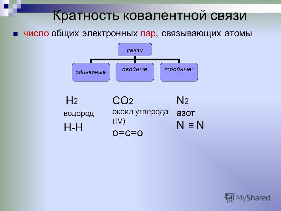 Кратность ковалентной связи