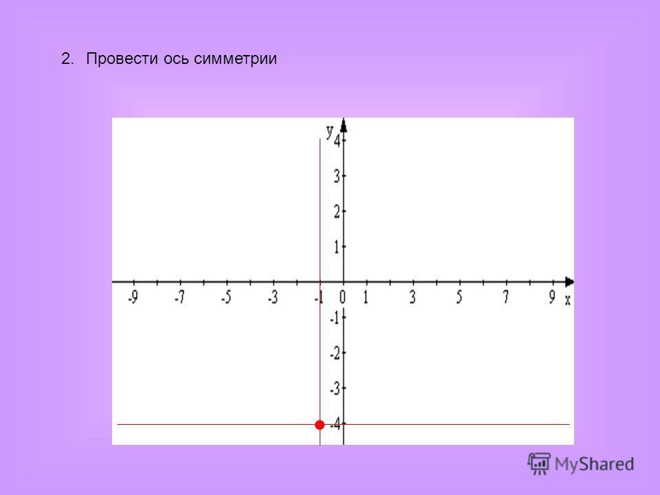 2.Провести ось симметрии