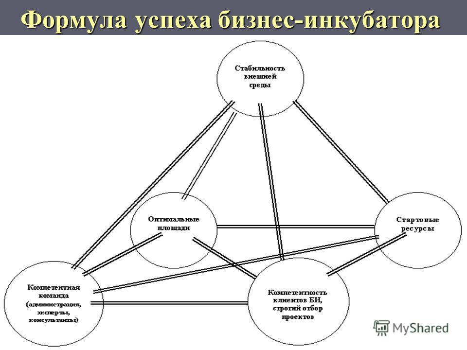 Формула успеха бизнес-инкубатора Формула успеха бизнес-инкубатора